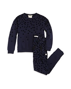 Scotch R'Belle - Girls' Velvet-Star Terry Sweatshirt & Jogger Pants - Little Kid, Big Kid